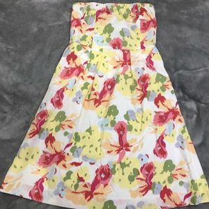 J. Crew Strapless Flora Fit and Flare Dress Size 0
